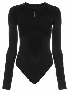 Unravel Project long sleeved leotard - Black