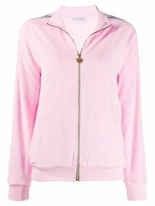 Chiara Ferragni logo tape zipped sweatshirt - PINK