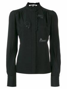 McQ Alexander McQueen ruffle trimmed blouse - Black