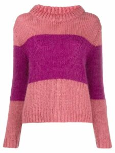 Semicouture bicolour sweatshirt - PINK