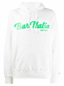 Sacai logo hoodie - White