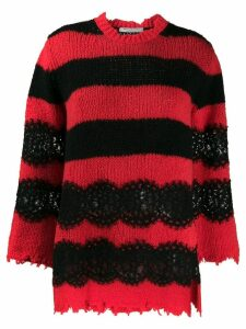 Philosophy Di Lorenzo Serafini longline striped jumper - Red