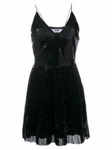 MSGM sequin pleated dress - Black