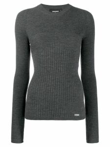 Dsquared2 ribbed knit sweater - Grey