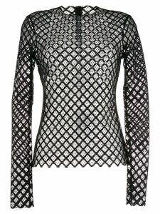 Philosophy Di Lorenzo Serafini lace crystal-embellished top - Black