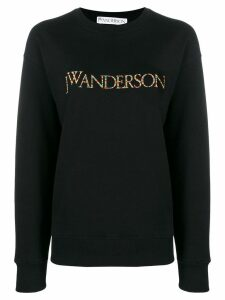 JW Anderson multicoloured embroidered logo sweater - Black