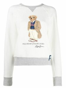 Polo Ralph Lauren preppy bear fleece sweatshirt - White
