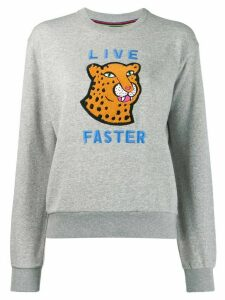PS Paul Smith Live Faster sweatshirt - Grey
