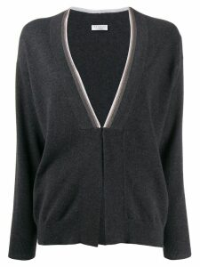 Brunello Cucinelli bead trim cardigan - Grey