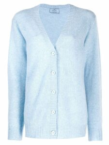Prada oversized knitted cardigan - Blue