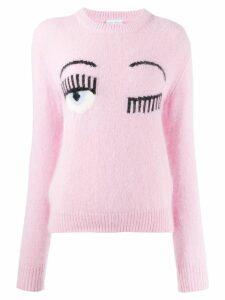 Chiara Ferragni winking eye sweater - PINK