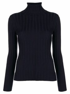 Aspesi ribbed turtleneck sweater - Blue