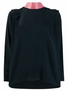 Roksanda pleated shoulder blouse - Blue