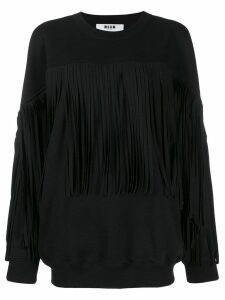 MSGM fringe sweatshirt - Black
