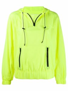 Michael Michael Kors drawstring hooded jacket - Yellow