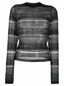 McQ Alexander McQueen patterned knit sweater - Black