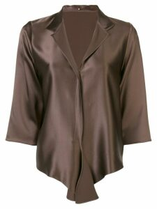 Peter Cohen spread collar blouse - Brown