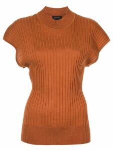 Lee Mathews shortsleeved knitted top - Brown