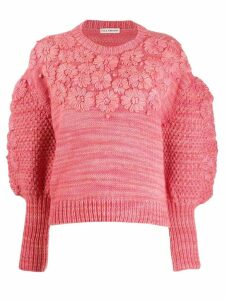 Ulla Johnson floral embroidered sweater - PINK
