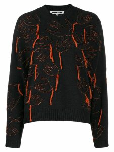 McQ Alexander McQueen aviary knitted jumper - Black