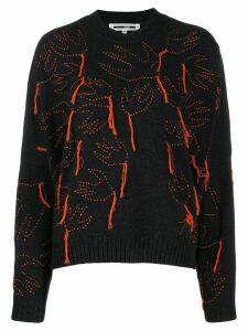 McQ Alexander McQueen aviary knitted jumper - Black