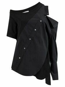 Monse cold shoulder split blouse - Black