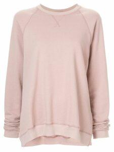 Lee Mathews Vince fleece raglan sweatshirt - PINK