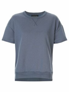Lee Mathews Vince fleece short-sleeve sweatshirt - Blue