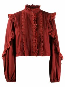 Ulla Johnson frill-trim blouse - Red