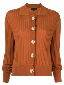 Lee Mathews ribbed sheer cardigan - Brown