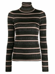 Ulla Johnson turtle-neck striped top - NEUTRALS