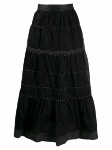 Ulla Johnson embroidered skirt - Black