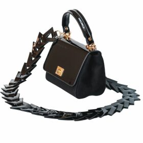 GISY - Metal Puff-Sleeves Silk Blouse White