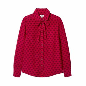 SOMERVILLE. - Le Classic Silk Shirt With Necktie- Love Heart