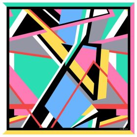 Emily Carter - The Abstract Scarf Magenta