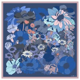 Emily Carter - The English Garden Scarf Cornflower