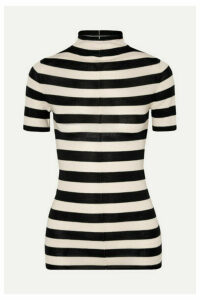 Khaite - Nidia Striped Wool Sweater - Black