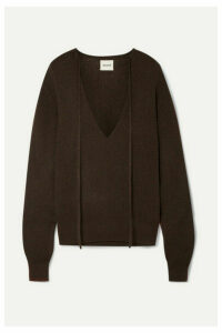 Khaite - Emma Stretch-cashmere Sweater - Dark brown