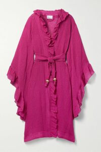 Nanushka - Levi Vegan Leather Wrap Top - Mustard