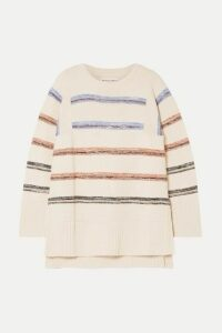 APIECE APART - Baja Striped Cotton Sweater - Cream