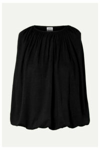 Totême - Maida Draped Stretch-jersey Top - Black