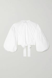 Etro - Printed Silk-crepe Top - Beige
