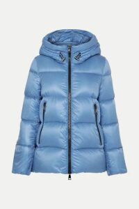 Moncler - Hooded Quilted Shell Down Jacket - Blue