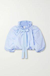 HARMUR - Open-back Silk-satin Halterneck Top - Lilac