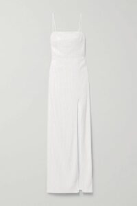 APIECE APART - Las Damas Pintucked Crinkled Cotton-gauze Blouse - Emerald