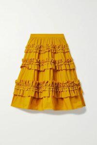 J.Crew - Summerstorm Striped Cotton-poplin Skirt - Blue