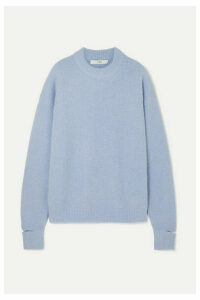 Tibi - Cutout Alpaca-blend Sweater - Lilac