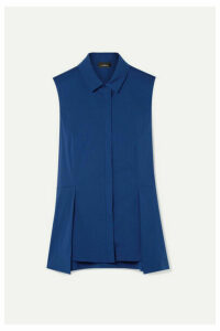 Akris - Cotton-blend Poplin Peplum Top - Royal blue