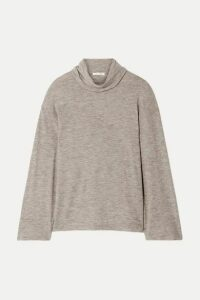The Row - Zalani Oversized Mélange Stretch-cashmere Turtlneck Sweater - Beige