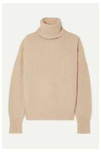 Joseph - Pearl Ribbed Wool Turtleneck Sweater - Cream